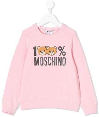 Moschino Kids 100% logo print sweatshirt