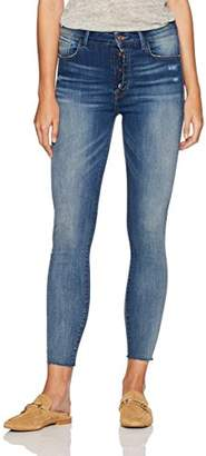 Madison Denim Women's Parsons High Rise Jean with Exposed Button