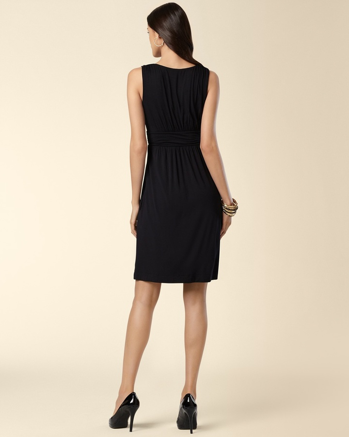 Soma Intimates Rosette Applique Black Dress