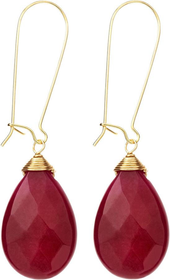 Susan Hanover Briolette Earrings, Deep Purple