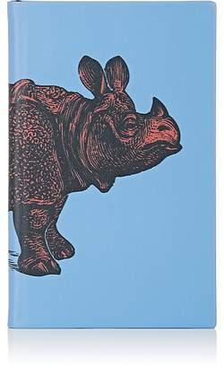 Smythson Rhinoceros-Motif Panama Notebook