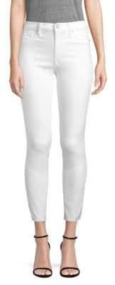 Hudson Barbara Frayed Hem Cropped Jeans