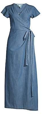 Draper James Women's Chambray Wrap Maxi Dress