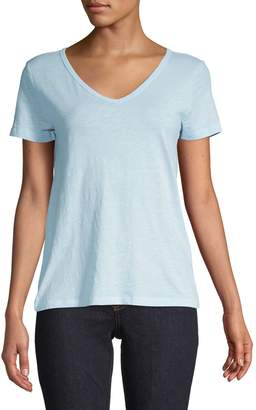 Lord & Taylor Petite Short-Sleeve Cotton Tee
