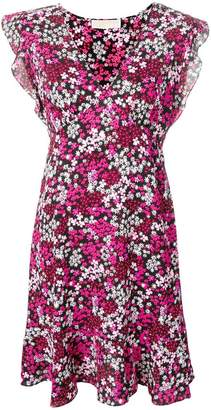 MICHAEL Michael Kors floral crepe ruffle dress