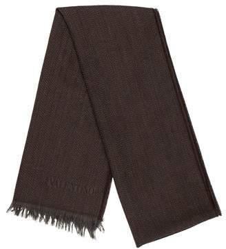 Valentino Wool Fringe Scarf
