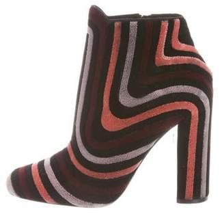 Salvatore Ferragamo Velvet Ankle Boots