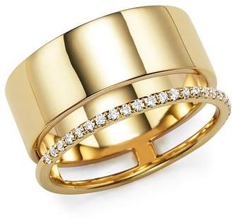 Bloomingdale's Diamond Double Band Ring in 14K Yellow Gold, .20 ct. t.w.