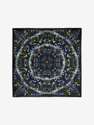 Alexander McQueen Engineered Dark Ophelia Scarf
