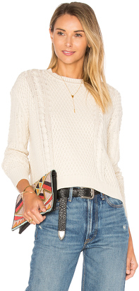 Autumn Cashmere Boxy Cable Crew Neck Sweater $198 thestylecure.com