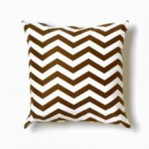 Twinkle Living Zigzag Brown/White Throw Pillow