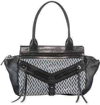Botkier Trigger Brushed Leather/Fabric Satchel Bag