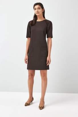 Next Womens Check Ponte Shift Dress