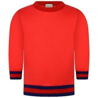 Gucci GUCCIBaby Boys Red Neoprene Sweatshirt