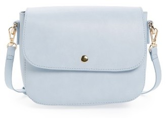 Bp. Minimal Faux Leather Crossbody Bag - Blue $35 thestylecure.com