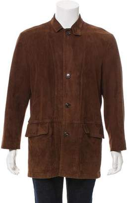 Luciano Barbera Suede Car Coat