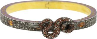 Sevan Biçakci Micro Mosaic Diamond and Sapphire Snake Bangle