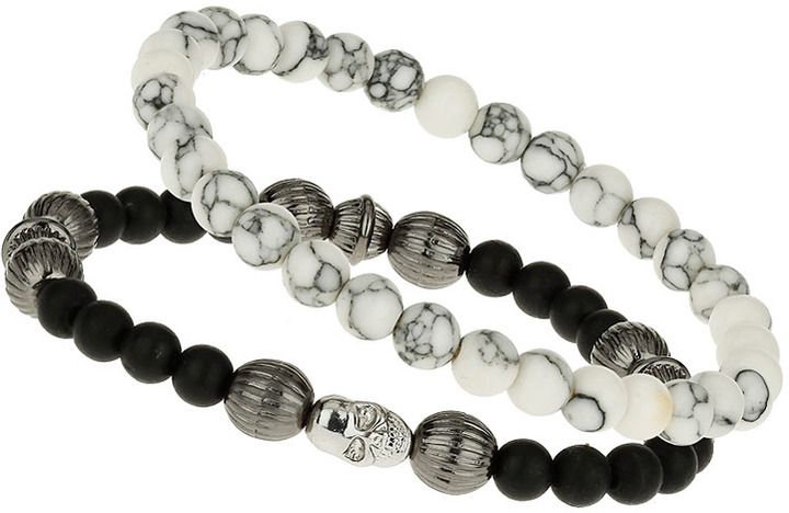 Topman Semi Precious Bead Pack bracelet
