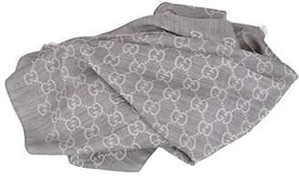 Gucci Women's Silk Wool GG Guccissima Light Silver Scarf
