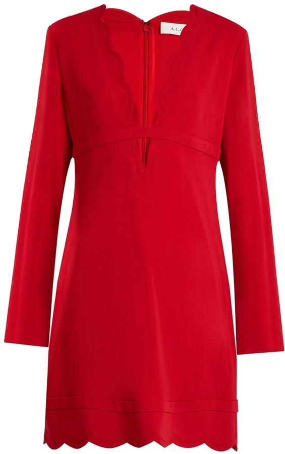 A.L.C. Eve scallop-edged crepe mini dress