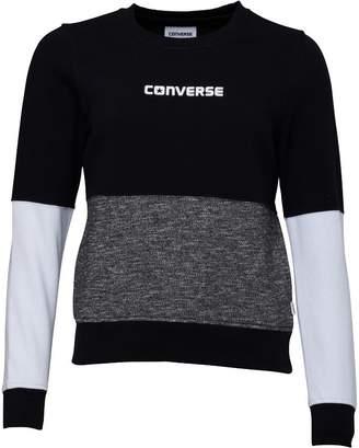 Converse Womens Colour Block Sweat Black/Charcoal