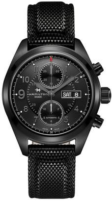 Hamilton Khaki Field Automatic Chronograph Silicone Strap Watch, 42mm