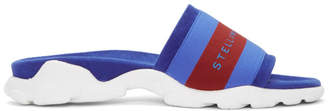 Stella McCartney Blue Logo Slides