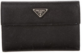 pradaPrada Saffiano Flap Wallet
