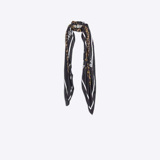 Balenciaga Bronze and silk bracelet