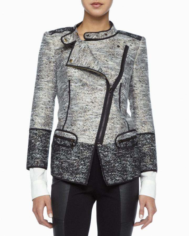Rachel Zoe Davenport Asymmetric Tweed Jacket