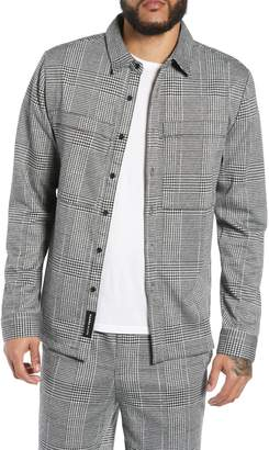 NATIVE YOUTH Houndstooth Check Overshirt