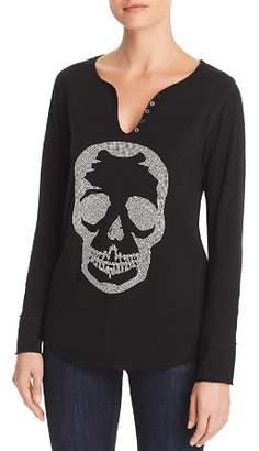 Aqua Skull Embellished Henley - 100% Exclusive