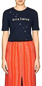 "Monogram Women's ""Disco Erotica"" Cotton T-Shirt - Navy"