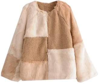 Goodnight Macaroon 'Irsia' Mixed Material Faux Fur Fleece Jacket