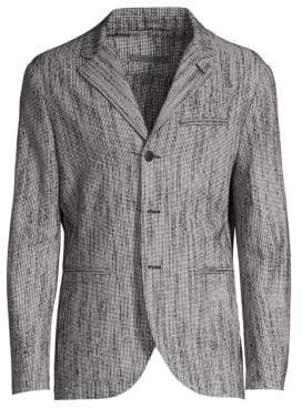 John Varvatos Easy Fit Wool-Blend Blazer Jacket
