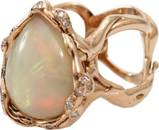 Lucifer Vir Honestus Opal And Diamond Organic Ring