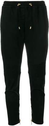 Balmain cropped drawstring trousers