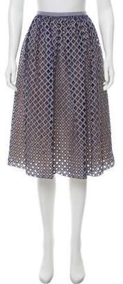 Michael Kors Gingham Print Knee-Length Skirt