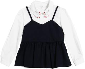 Flannel & Cotton Poplin Shirt