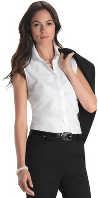 Brooks Brothers Petite Non-Iron Fitted Sleeveless Dress Shirt