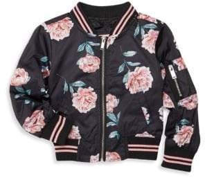 Urban Republic Little Girl's Floral Bomber Jacket