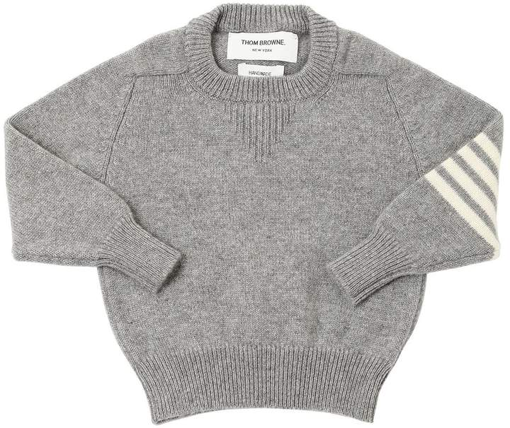 Intarsia Stripes Cashmere Knit Sweater