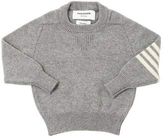 Thom Browne Intarsia Stripes Cashmere Knit Sweater