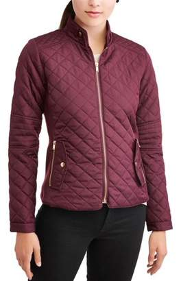 b0cdcfe6b1e New Look Juniors Quilted Zip Jacket with Zip Pockets
