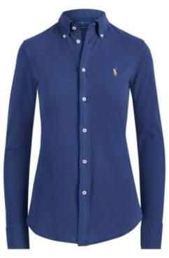 Ralph Lauren Knit Cotton Oxford Shirt Eastside Royal L