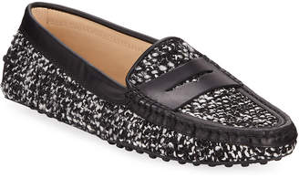 Tod's Gommini Herringbone Penny Loafers