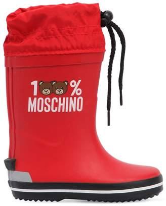 Moschino 100% Rubber Rain Boots