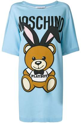 Moschino playboy teddy T-shirt dress