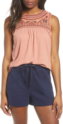 Caslon Embroidered Yoke Tank