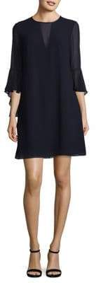 Vince Camuto Illusion V-Neck Bell Sleeves Mini Dress